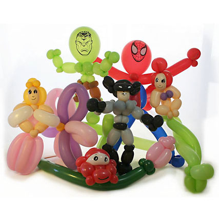 picture of balloon character balloon hulk spiderman cars little mermaid princess